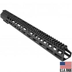 "AR-10/LR-308 M-Lok 18"" D-Cut Handguard Rail System (Made in USA)"