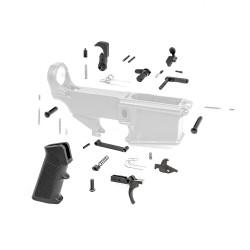 AR-10/LR-308 Lower Parts Kit w/ Standard Grip & Trigger Guard