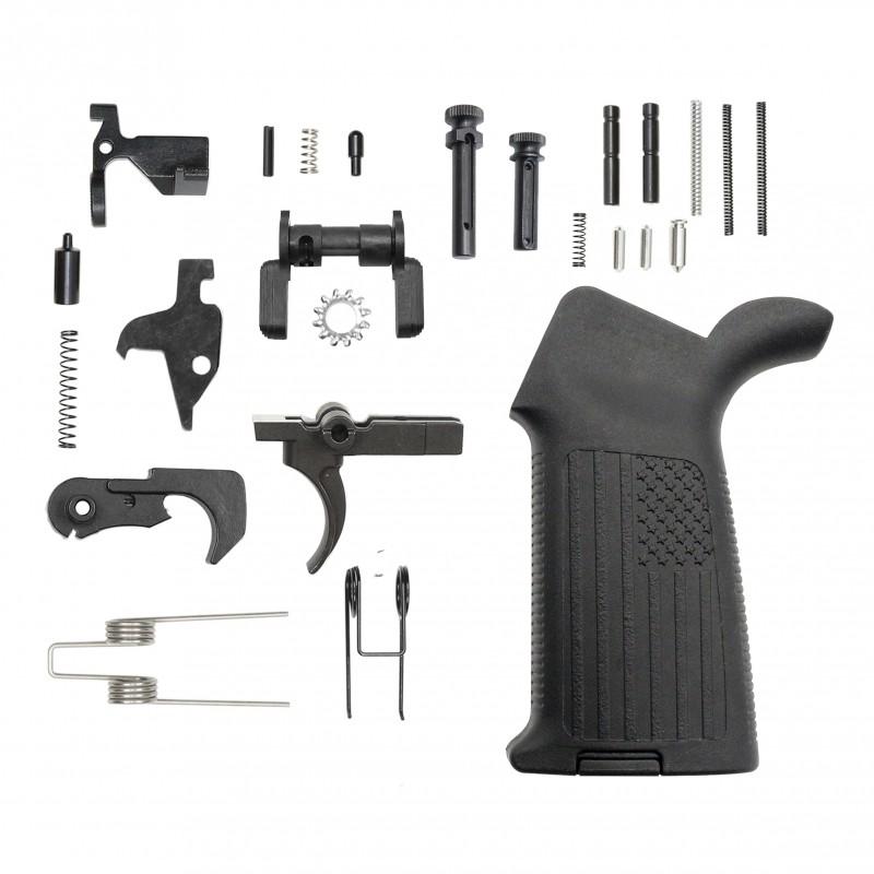 AR 9MM Enhanced Lower Parts Kit w/ Ambi Safety & Enhanced Pivot / Takedown Pins