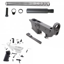 AR-9MM 80% Anodized Lower Combo with Pistol Stock Kit and LPK