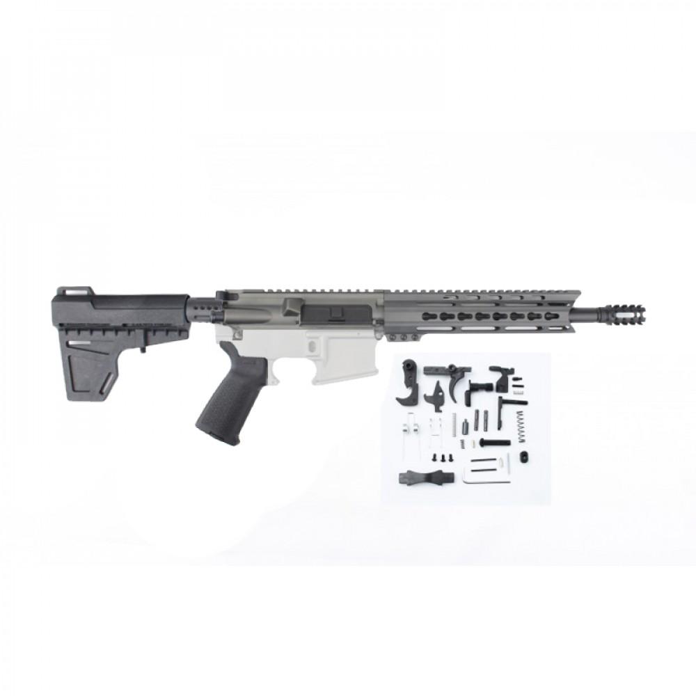 Ar15 10 5 Quot Pistol Build Kit W 9 Quot Keymod Handguard Grey