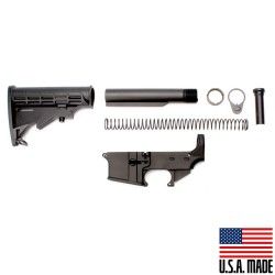 AR-15 80% Anodized Lower (USA) Combo with Stock Kit