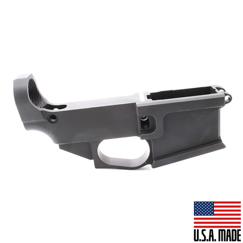 AR-15 Billet 80% Lower Receiver - Black Anodized (Made in USA)