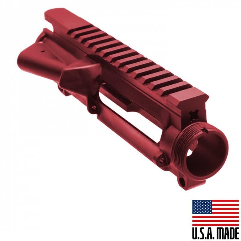 AR-15 Stripped Upper Receiver (RED) - Made in U.S.A.