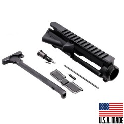 AR-15 Flat-Top Upper Receiver Kit - Made in U.S.A. - Incl. Ejection Port Kit, Forward Assist, & Charging Handle-Unassembly