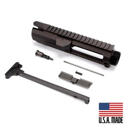 .308 Flat-Top Upper Receiver Kit (Made in USA) Incl. Ejection Port Kit, Forward Assist, & Charging Handle- Unassembly