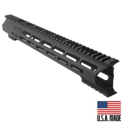 "AR-15 M-Lok 15"" Super Slim Light Free Float Handguard ""C"" Cut - Black (Made In USA)"