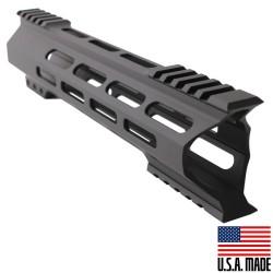 "AR-15 M-Lok 10"" Super Slim Hybrid Free Float Handguard ""C"" Cut - BLACK (MADE IN USA)"