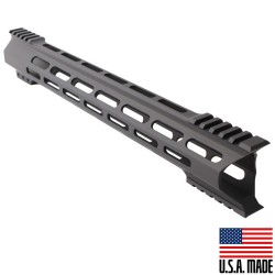 "AR-15 M-Lok 15"" Super Slim Hybrid Free Float Handguard ""C"" Cut - BLACK (Made in USA)"