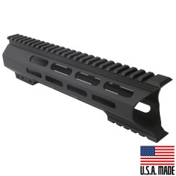 "AR-10 M-Lok 10"" Super Slim Light Free Float Handguard ""C"" Cut - Black (Made In USA)"