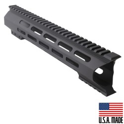 "AR-10 M-Lok 12"" Super Slim Light Free Float Handguard ""C"" Cut - Black (Made In USA)"