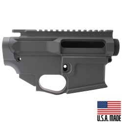 AR-15 BILLET UPPER RECEIVER W/ 80% BILLET LOWER RECEIVER CERAKOTE - SNIPER GREY (Made in USA)