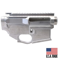 AR-15 BILLET UPPER RECEIVER W/ 80% BILLET LOWER RECEIVER - RAW (Made in USA)