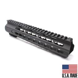 "AR-15 10"" Super Slim Light Keymod Free Float Handguard - Black  (MADE IN USA)"