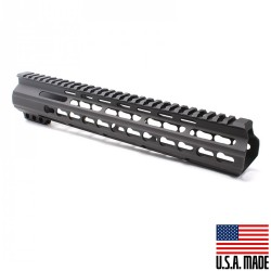 "AR15 12"" Super Slim Light Keymod Free Float Handguard - BLACK (MADE IN USA)"