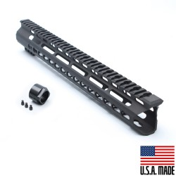 "AR15 15"" Super Slim Light Keymod Free Float Handguard  -BLACK- (MADE IN USA)"