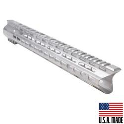 "AR-15 15"" Super Slim Light Keymod Free Float Handguard  ""C"" Cut- RAW (MADE IN USA)"