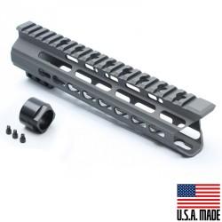 "AR-15 9"" Super Slim Light Keymod Free Float Handguard C Cut (MADE IN USA) - GREY"