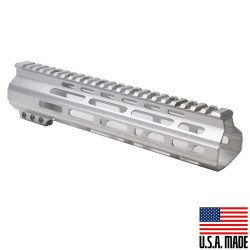 "AR-15 10"" M-LOK Super Slim Light Free Float Handguard - RAW (MADE IN USA)"