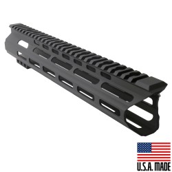 """AR-15 MLOK 12"""" Free Float Handguard with """"C""""Cut - BLK (Made in USA)"""