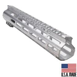 "AR-15 12"" M-LOK Super Slim Light Free Float Handguard - RAW (MADE IN USA)"