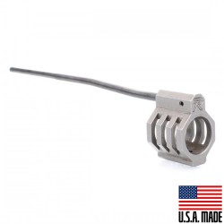 """.750 Low Profile Micro """"CAGED"""" Staniless Steel Gas Block (USA) and Carbine Length Gas Tube - Assembled"""