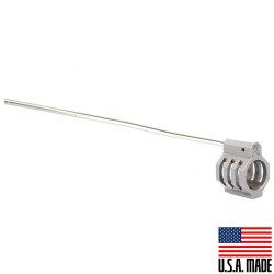 """.750 Low Profile Micro """"CAGED"""" Stainless Steel Gas Block (USA) and Rifle Length Stainless Gas Tube - Assembled("""