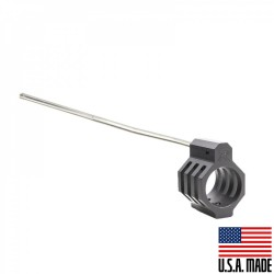 """.750 Low Profile Micro """"CAGED"""" Steel Gas Block (USA) and Pistol Length Stainless Gas Tube - Assembled (GTP, GBUS)"""