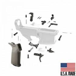 308 Lower Parts Kit w/OD Green Magpul Grip (USA) & Trigger Guard