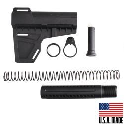 AR-15 Shockwave Blade (USA) with Custom Pistol Buffer Tube Kit