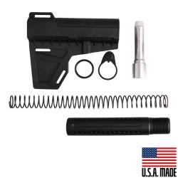AR-9MM Shockwave Blade (USA) with Custom Pistol Buffer Tube Kit