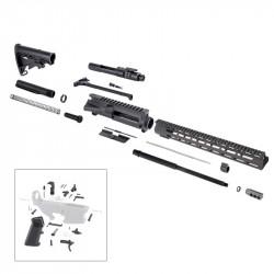 "AR 7.62X39 16"" RIFLE BUILD KIT W/ 15"" M-LOK HANDGUARD BCG LPK & STOCK KIT"