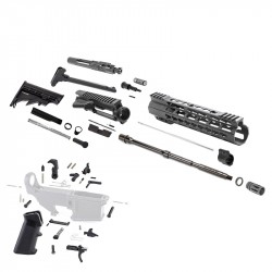 "AR-15 Rifle Build Kit with Lower Part Kit and 12"" Super Slim Light Keymod Quad Rail"