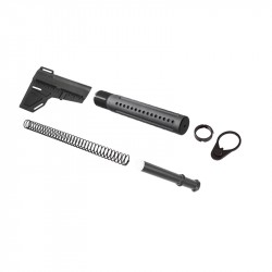 AR10 .308 Shockwave Blade with Custom Pistol Buffer Tube Kit