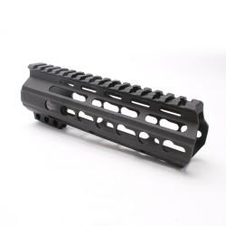 "AR-15 7"" Super Slim Light Keymod Free Float Handguard - Black (MADE IN USA)"