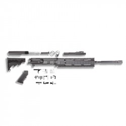 "AR15 16"" RIFLE BUILD KIT W/10"" QUAD RAIL HANDGUARD BCG LPK & STOCK KIT (ASSEMBLED UPPER)"