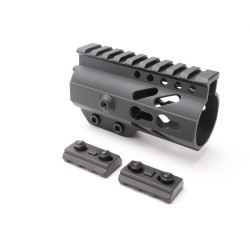 "AR-15 Keymod 4"" Super Slim Light Free Float Handguard with 2""+2"" Keymod Rails (Package)"