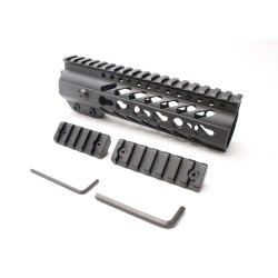 "AR-15 Keymod 7"" Super Slim Light Keymod Free Float Handguard with 2""+3"" Keymod Rails (Package)"