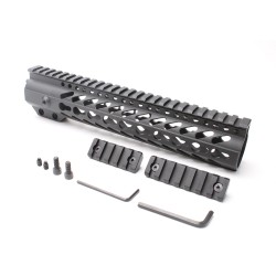 "AR-15 Keymod 10"" Super Slim Light Keymod Free Float Handguard with 2""+3"" Keymod Rails (Package)"