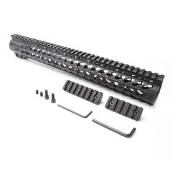"AR-15 Keymod 15"" Super Slim Light Keymod Free Float Handguard with 2""+3"" Keymod Rails (Package)"