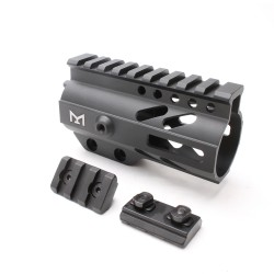 "AR-15 M-LOK 4"" Super Slim Free Float Handguard with & 2"" M-LOK Rails (Packaged)"