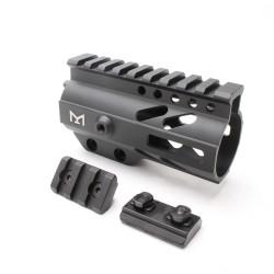 "AR-15 M-LOK 4"" Super Slim Free Float Handguard with 2"" & 2"" M-LOK Rails (Package"