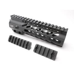 "AR-15 M-LOK 7"" Super Slim Free Float Handguard with 2"" & 3"" M-LOK Rails (Package)"