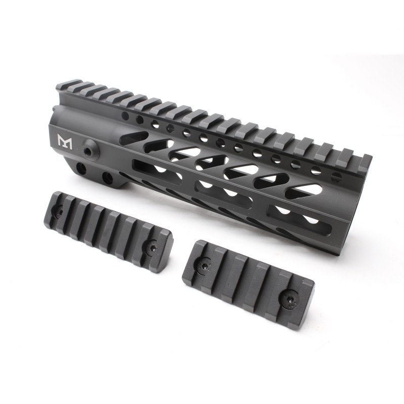 "AR-15 M-LOK 7"" Super Slim Free Float Handguard with 2"" & 3"" M-LOK Rails (Package)"
