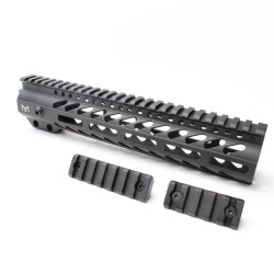"AR-15 M-LOK 10"" Super Slim Free Float Handguard with 2"" & 3"" M-LOK Rails (Package)"
