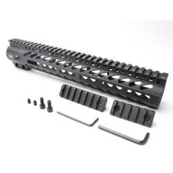 "AR-15 M-LOK 12"" Super Slim Free Float Handguard with 2"" & 3"" M-LOK Rails (Package)"
