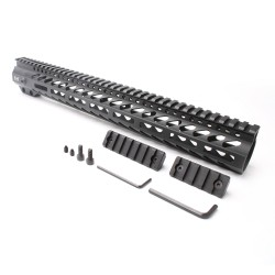 "AR-15 M-LOK 15"" Super Slim Free Float Handguard with 2"" & 3"" M-LOK Rails (Package)"