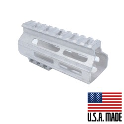 "AR-15 4.5"" M-LOK Super Slim Light Free Float Handguard (MADE IN USA) - Raw"