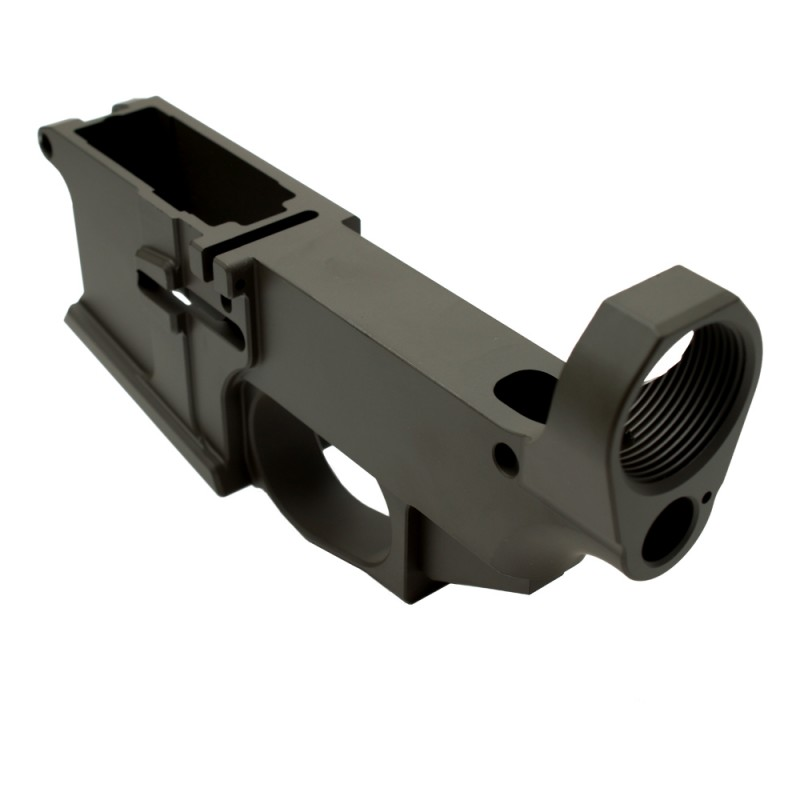 AR-15 Billet 80% Lower Receiver Cerakoted - OD