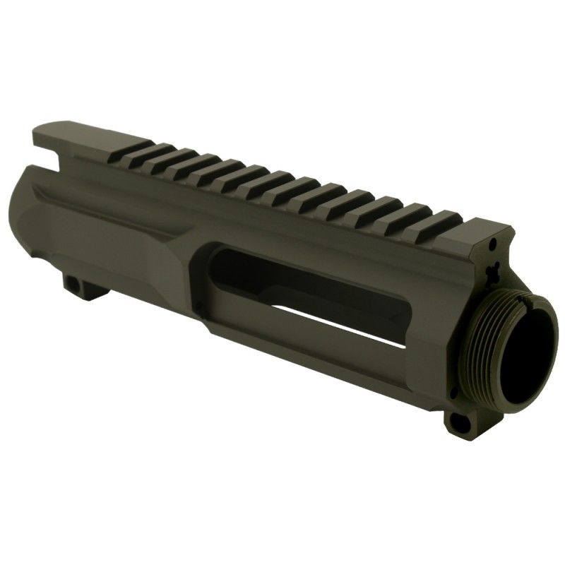 AR-15 Billet Stripped Upper Receiver (Made in USA) Cerakote - OD Green